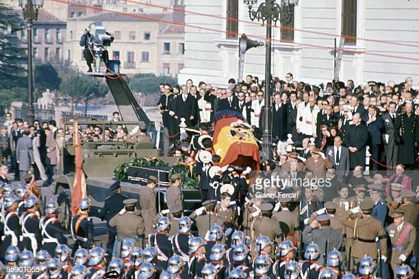Madrid Palacio de Oriente Espana Funerals of Francisco Franco