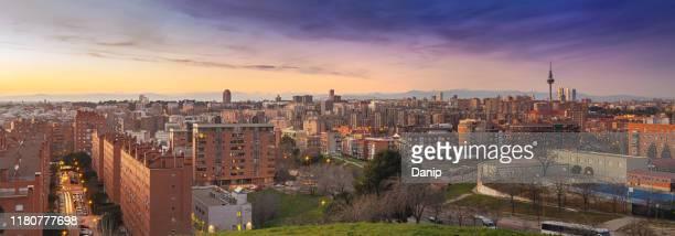 madrid - panoramic imagens e fotografias de stock