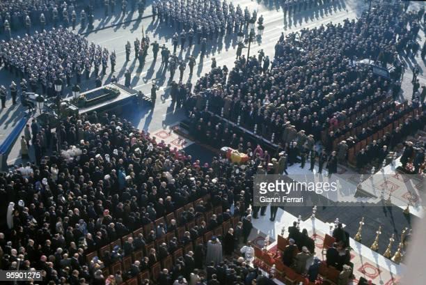 Madrid Plaza de Oriente Espana Funeral of Francisco Franco