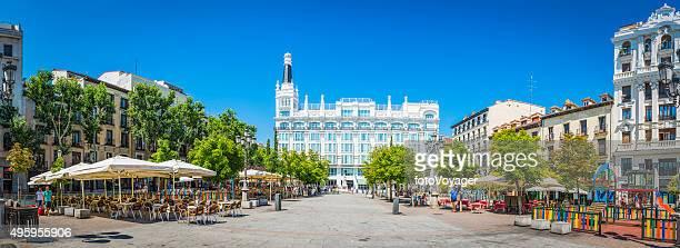 Madrid Plaza de Santa Ana restaurants hotels malerischen square, Spanien