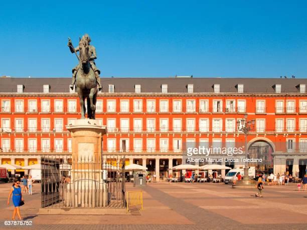 Madrid, Plaza Mayor square - Panaderia House and Philip III