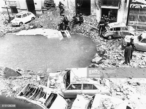 Madrid: Prime Minister Killed In Explosion. This is scene of devastation caused by an explosion, Dec. 20th, which Spanish government says killed...