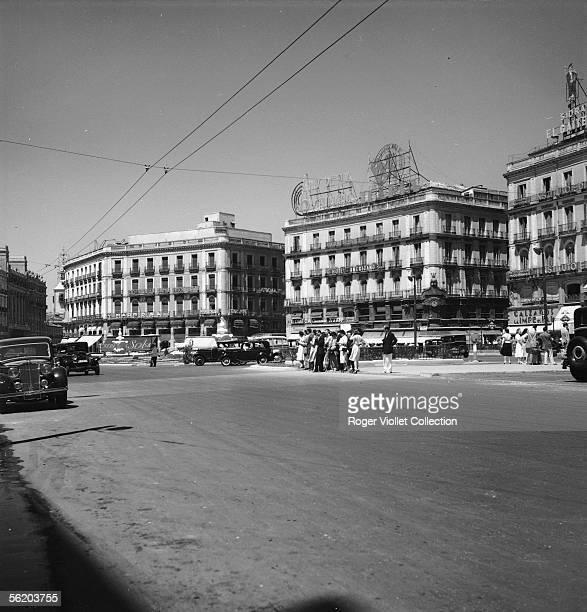 Madrid . Puerta del Sol, July 1951.