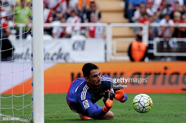 Real Betis Spanish goalkeeper Antonio Ad��n during the Spanish League 2015/16 match between Rayo Vallecano and Real Betis at Vallecas Stadium in...