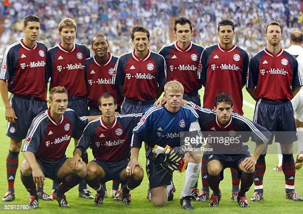 FINALE Madrid REAL MADRID FC BAYERN MUENCHEN 12 Teamfoto/Mannschaft Bayern Muenchen vlks Michael BALLACK Michael TARNAT ZE ROBERTO Hasan SALIHAMIDZIC...