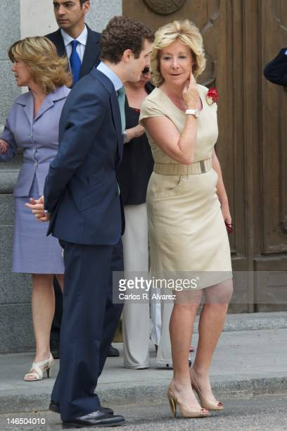 Madrid Regional President Esperanza Aguirre attends the bicentennial of the creation of the Supreme Court on June 18 2012 in Madrid Spain