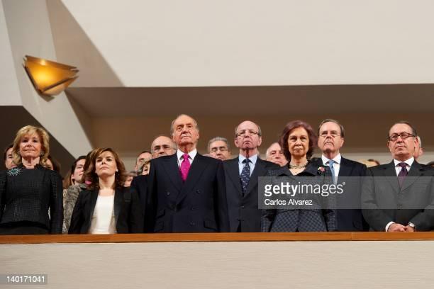 Madrid Regional President Esperanza Aguirre first deputy prime minister government spokeswoman and minister of the prime minister's office Soraya...