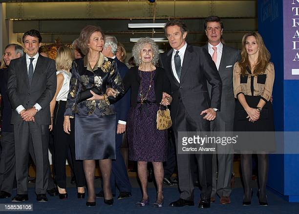 Madrid Regional President Ignacio Gonzalez Queen Sofia of Spain Duchess of Alba Cayetana FitzJames Stuart her husband Alfonso Diez Cayetano Martinez...