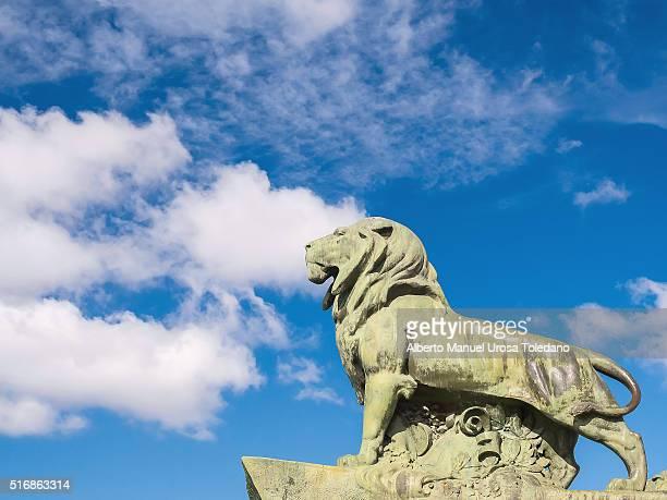 Madrid, Retiro Park - king Alfonso XII monument -Lion