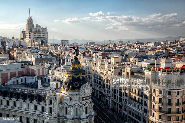 madrid rooftop - madrid stock-fotos und bilder