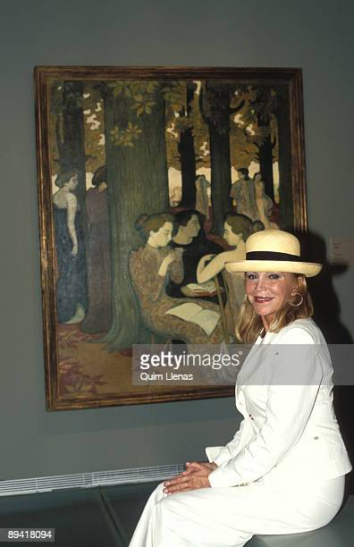 Madrid september 27th 2004 Baroness ThyssenBornemisza during the opening of the 'Gauguin and the Simbolism origins' at Thyssen Museum and Caja de...