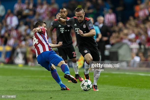 Madrid Spain UEFA Champions League 2016/17 Season Group D Matchday 2 Atletico Madrid FC Bayern Muenchen Gabi gegen Franck Ribery