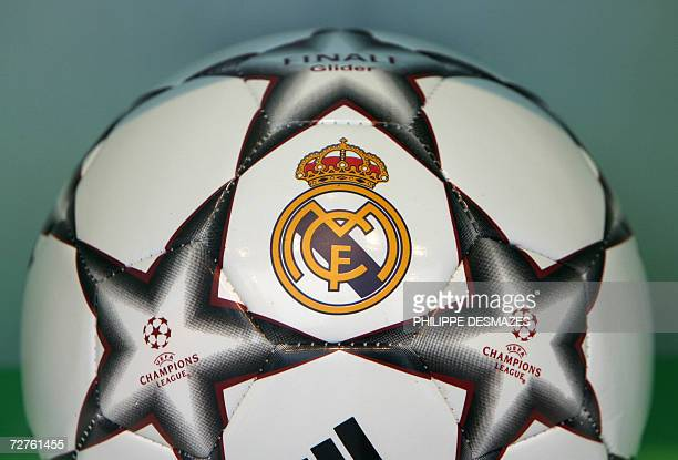 A Real Madrid Champions League football seen in a shop window in Madrid 07 December 2006 According to an article published today in the French...