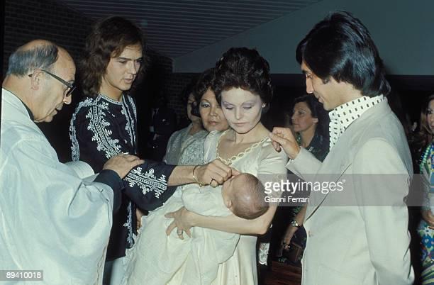 1967 Madrid Spain Baptism of the second son of the singers Rocio Durcal and Antonio Morales 'Junior' Antonio Fernando Godfather Fernando Arbex