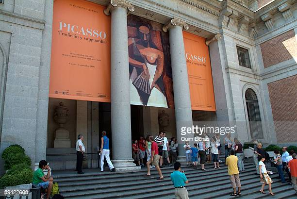 Madrid Spain Environment in the access to the Picasso expositionTradition and vanguard in the Museo Nacional del Prado