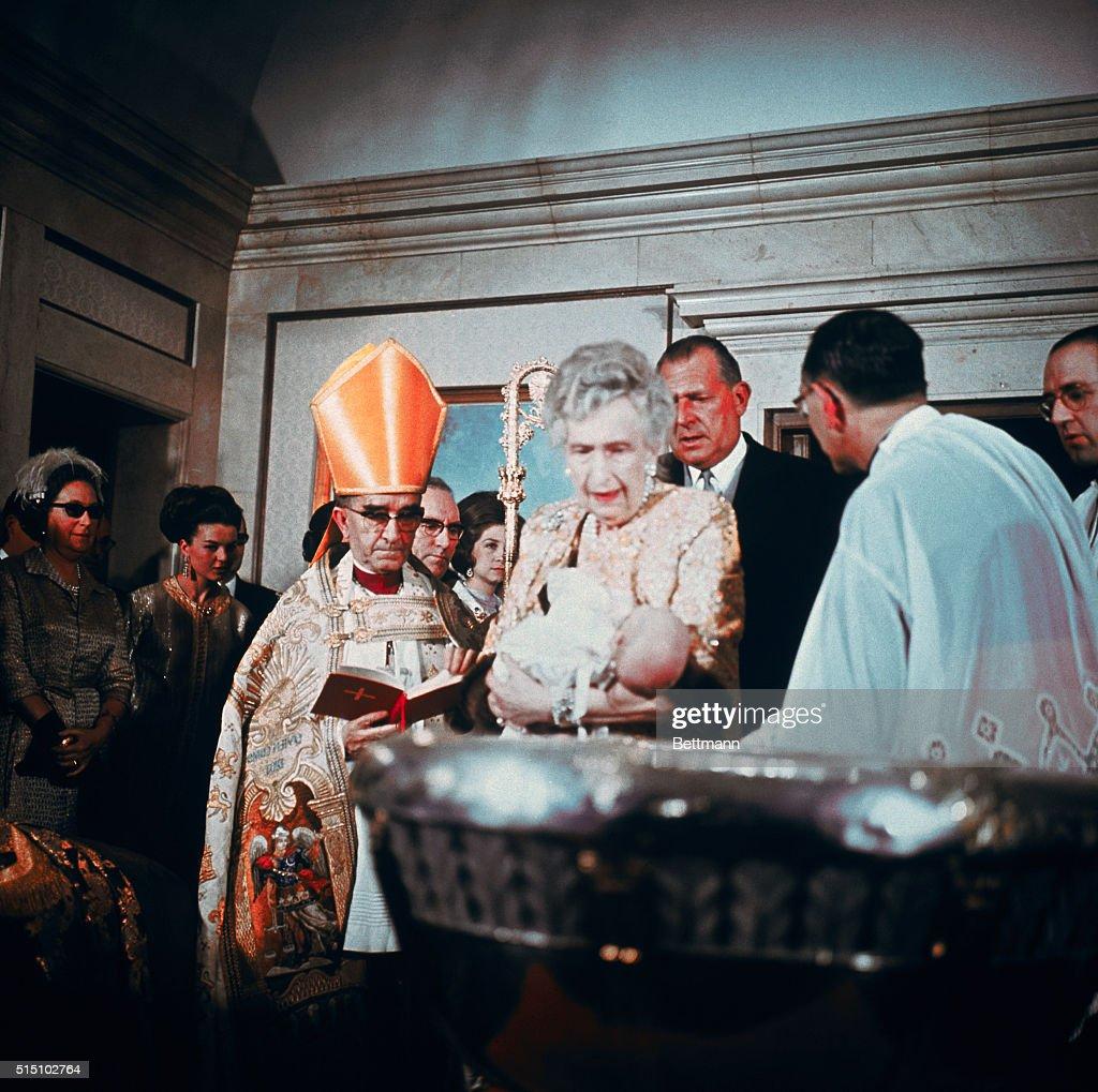Baptism of Prince Felipe : News Photo