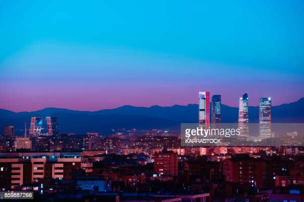 madrid, spain financial district cityscape - madrid stock pictures, royalty-free photos & images
