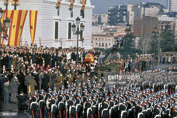 Madrid Spain Funeral of Francisco Franco