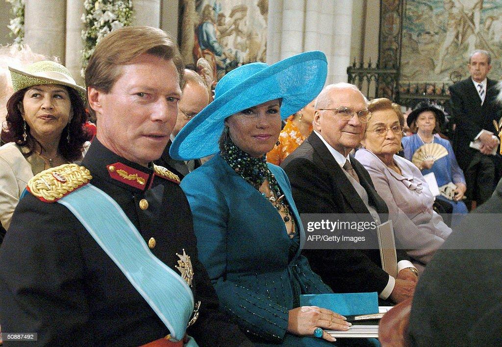 (FromL) Luxemburg's Grand Duke Henri, hi : News Photo