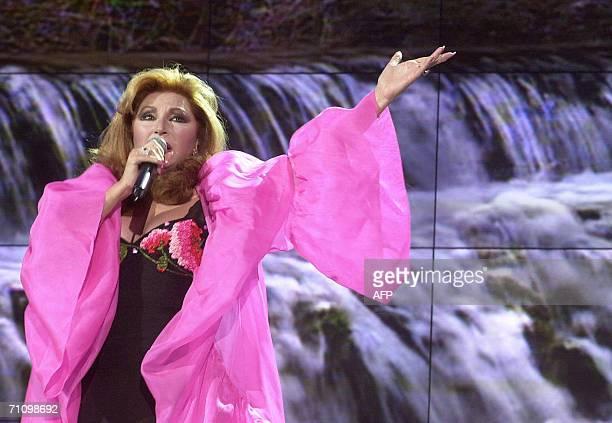 Photo taken in December 2001of Spanish singer Rocio Jurado performing during a programme on Spanish television Jurado one of Spain's most beloved...