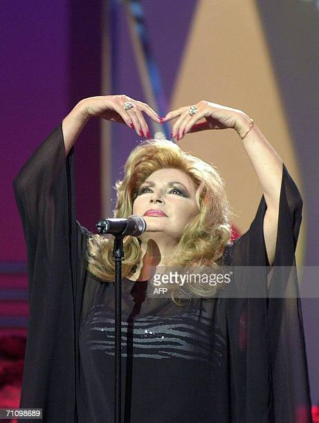 Photo taken in March 2001of Spanish singer Rocio Jurado performing during a programme on Spanish television Jurado one of Spain's most beloved...