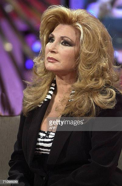 Photo taken in March 2001of Spanish singer Rocio Jurado during a programme on Spanish television Jurado one of Spain's most beloved singers died...