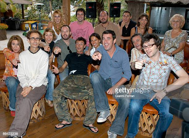 Madrid Spain Presentation of the new time of the 'Camera Coffee' tv serie of Telecinco channel The group of the actors that participate in the series...
