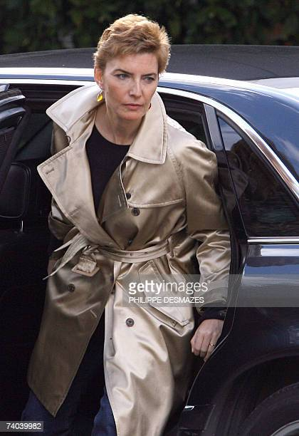 Spanish Prime minister Jose Luis Rodriguez Zapatero wife's Sonsoles Espinosa arrives to visit Princess Letizia and her second baby daughter Sofia at...
