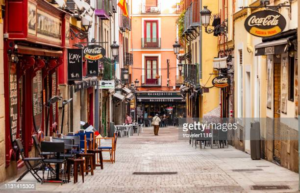 madrid, spain street scene - madrid stock pictures, royalty-free photos & images