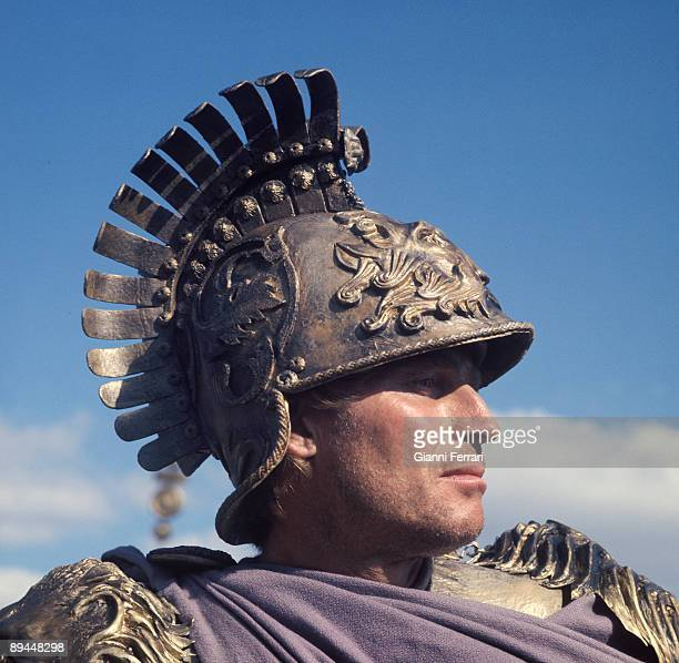 1969 Madrid Spain The actor Charlton Heston during the filming of the movie 'Julius Caesar'