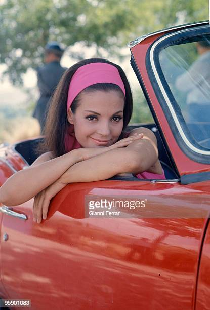 Madrid Soain The actress Carmen Sevilla with his car