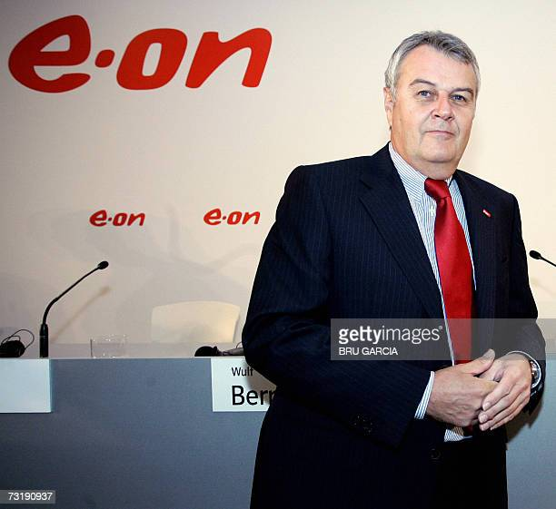 The chief executive of German energy group E.ON, Wulf Bernotat poses 03 February 2007 after a press conference in Madrid. E.ON, Germany's largest...