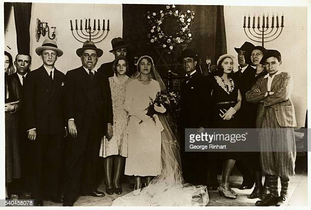 Madrid Spain The principals in this the first Hebrew marriage ceremony performed in Spain since the Inquisition were Senorita Raquel Venitura and...