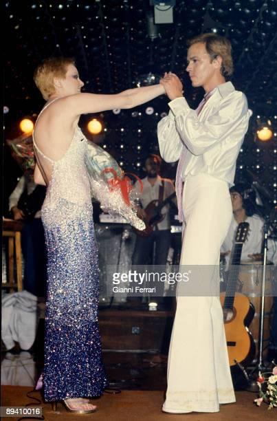 1976 Madrid Spain The singer Rocio Durcal and Antonio Morales 'Junior' in a party