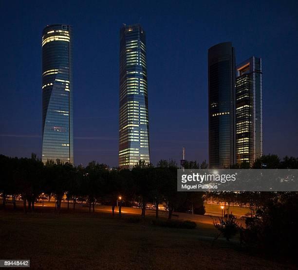 Madrid SpainCuatro Torres Business Area Four Towers Business Area Torre Caja Madrid Torre Sacyr VallehermosoTorre Cristal y Torre Espacio Cuatro...