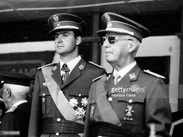 Madrid The ceremonies of the 31th anniversary of the victory General FRANCO and Prince JUAN CARLOS of BOURBON