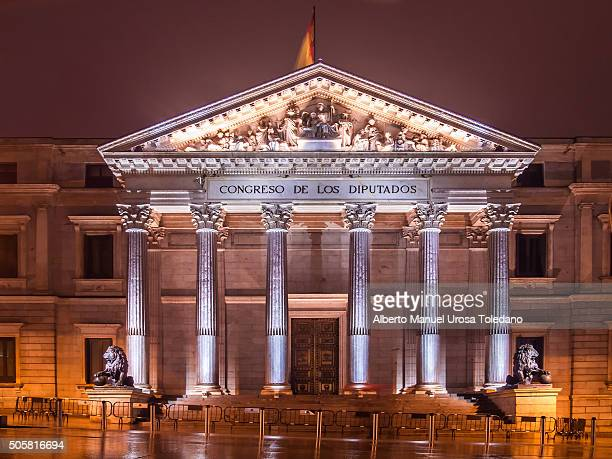 madrid, the congress of deputies of spain - congress of deputies stock pictures, royalty-free photos & images