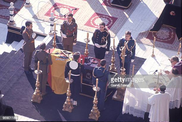Madrid The Escorial Spain Funeral service of Francisco Franco in the Monastery of the Escorial