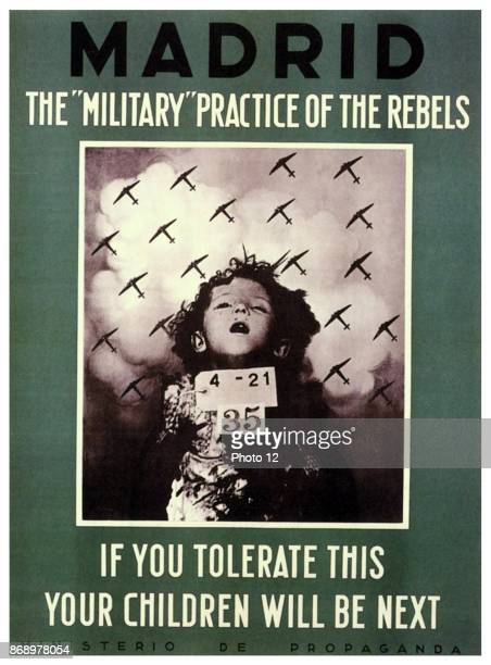 The military' practice of the rebels. If you tolerate this, your children will be next. Ministerio de Propaganda.