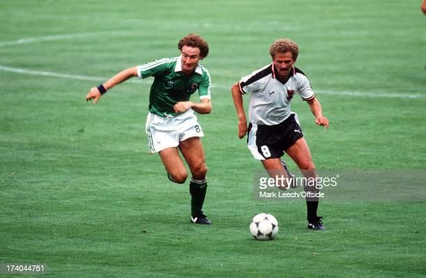 Madrid World Cup Austria v Northern Ireland Martin O'Neill pursues Prohaska