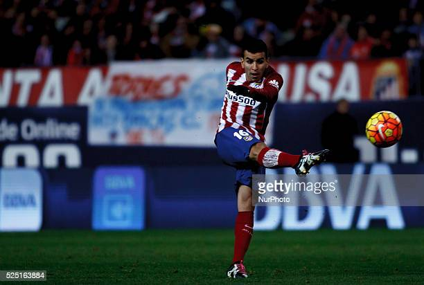 Atletico de Madrid's Argentinean forward Angel Correa during the Spanish League 2016/16 match between Atletico de Madrid andLevante at Vicente...