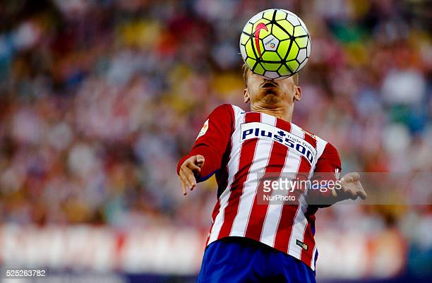 Atletico de Madrid's French forward Antoine Griezmann during the Spanish League 2015/16 match between Atletico de Madrid and UD Las Palmas at Vicente...