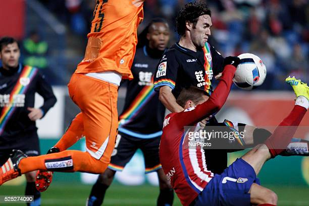 Atletico de Madrid's French forward Antoine Griezmann scores a goal during the Spanish Kings cup 2015/16 second leg match between Atletico de Madrid...