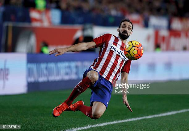 Atletico de Madrid's Spanish Defender Juanfran Torres during the Spanish League 2015/16 match between Atletico de Madrid and Valencia, at Vicente...