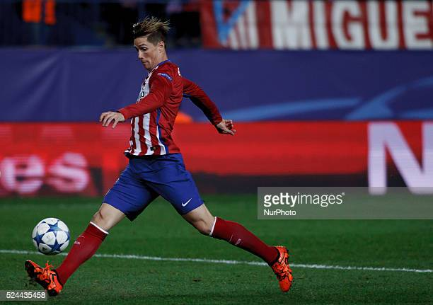 Atletico de Madrid's Spanish forward Fernando Torres during the UEFA Champions League 2015/16 match between Atletico de Madrid and Astana, at Vicente...