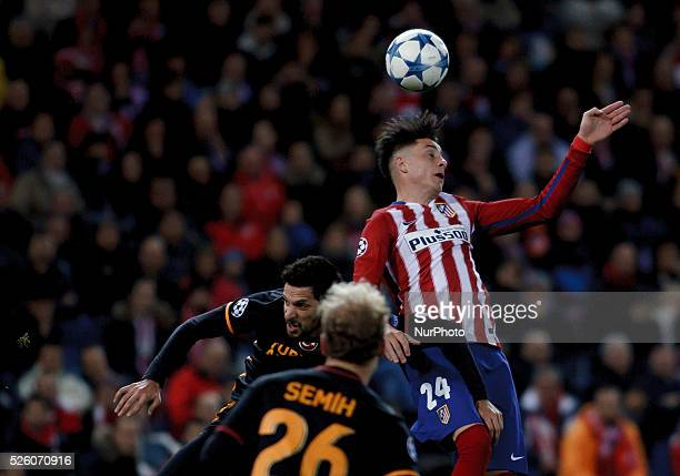 Atletico de Madrid's Uruguayan Defender Jose Maria Gimenez during the UEFA Champions League 2015/16 match between Atletico de Madrid and Galatasaray,...
