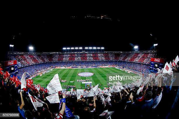 general view before the Spanish League 2015/16 match between Atletico de Madrid and Real Madrid at Vicente Calderon Stadium in Madrid on October 4...