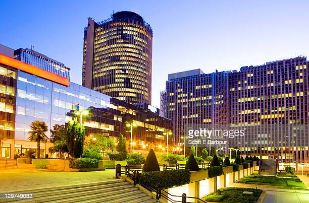 madrid's azca business and financial district. - madrid stock pictures, royalty-free photos & images