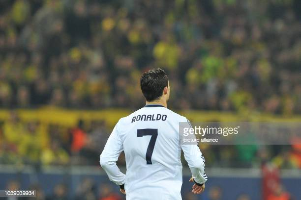 Madrid's Cristiano Ronaldo stands during the UEFA Champions League semifinal first leg soccer match between Borussia Dortmund and Real Madrid at BVB...