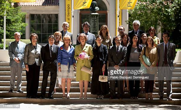 Madrid's regional President Esperanza Aguirre Queen Sofia of Spain and Spanish Minister of Culture Angeles Gonzalez Sinde attend 'Photoespana' 2011...